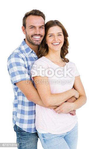 673176670 istock photo Happy young couple embracing 673213142