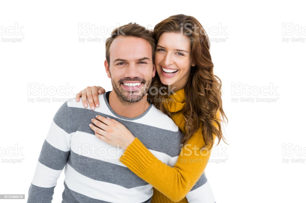Happy young couple embracing royalty-free stock photo