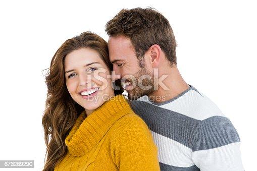 673176670 istock photo Happy young couple embracing 673289290