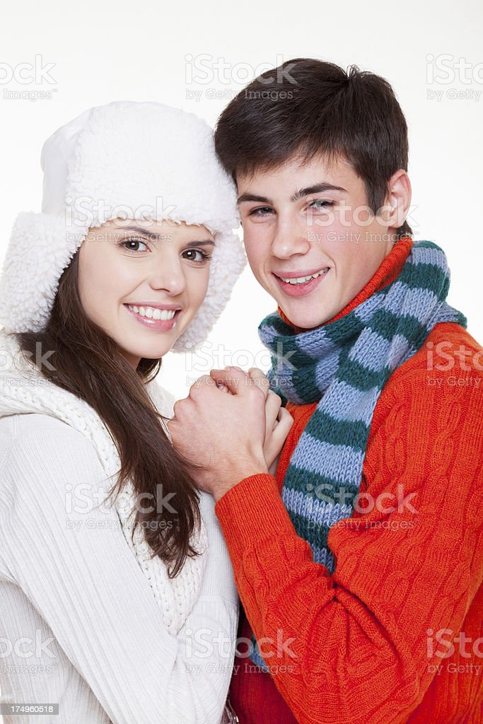 Happy young couple in love royalty-free stock photo