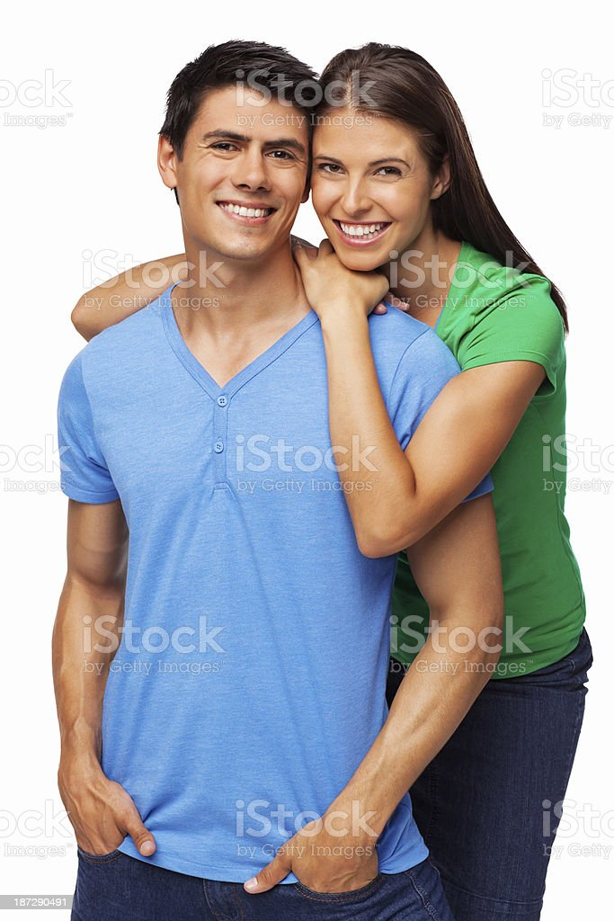Happy Young Couple - Isolated stock photo