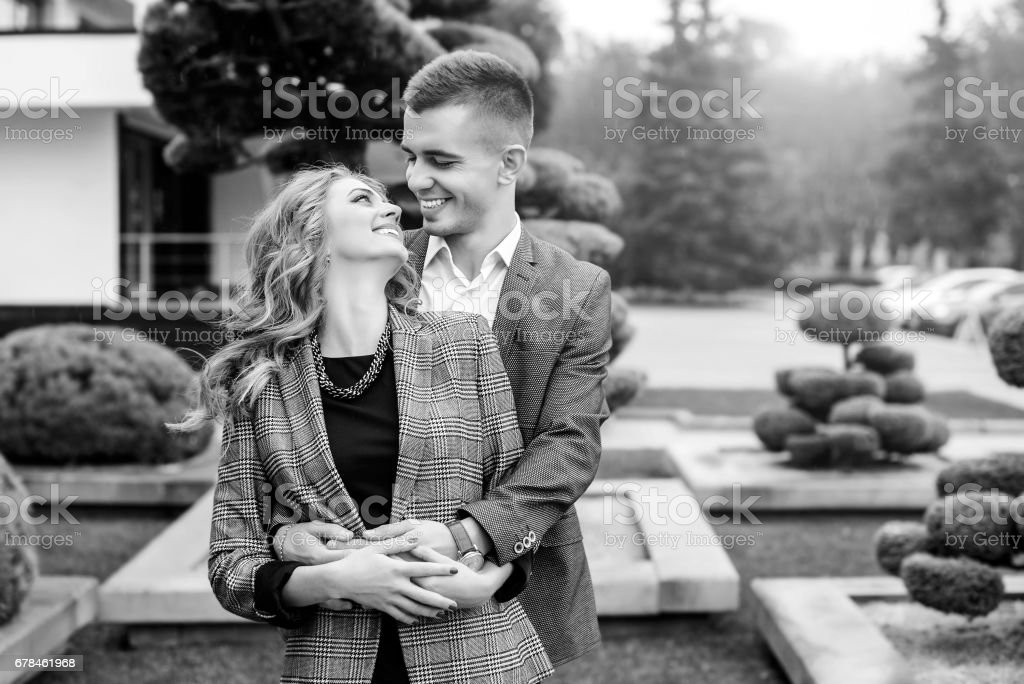 Happy young couple outdoor royalty-free stock photo