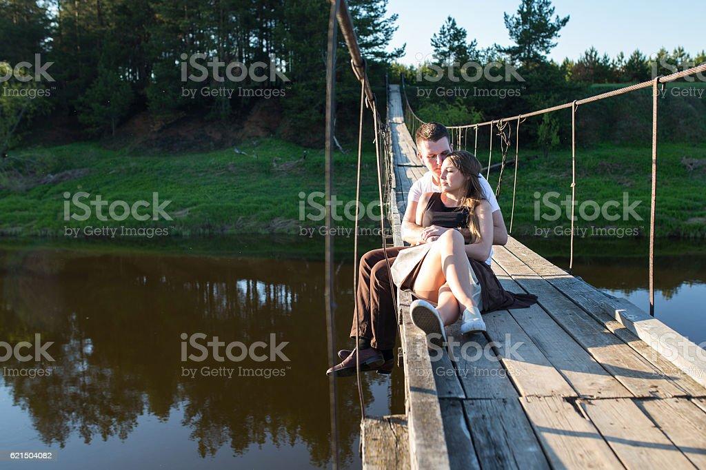 Heureux Jeune couple  photo libre de droits