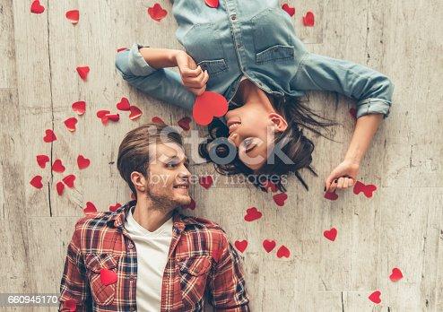 istock Happy young couple 660945170