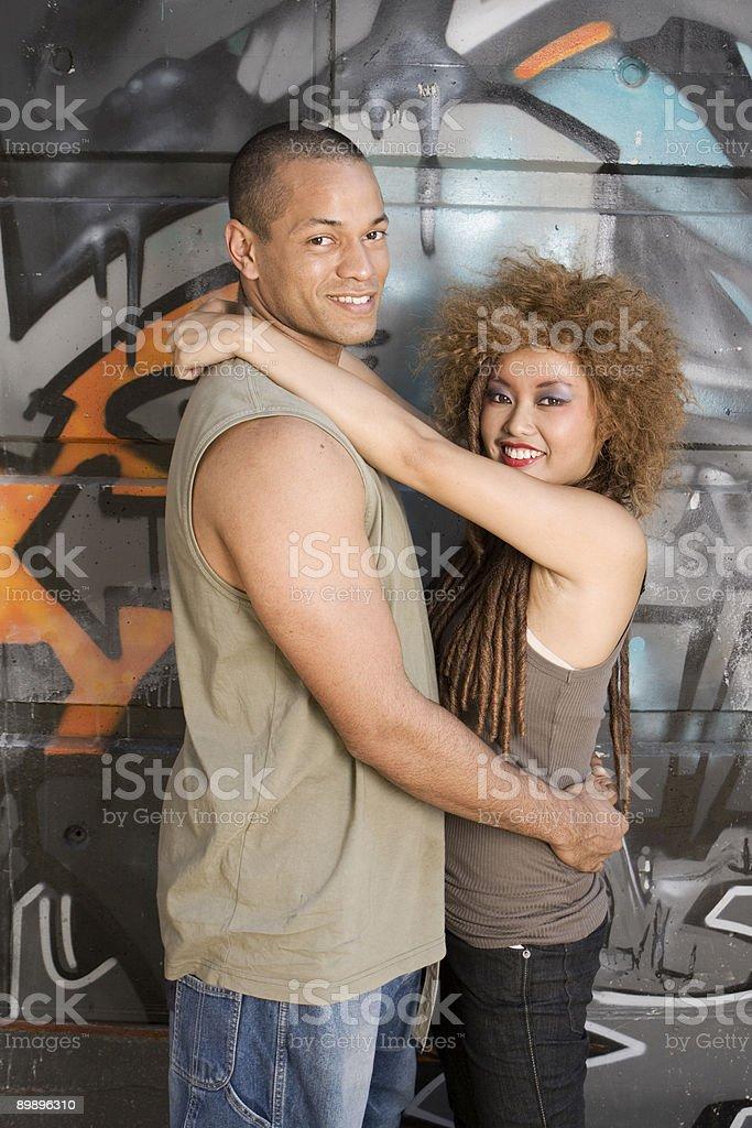 Glückliches junges Paar Lizenzfreies stock-foto