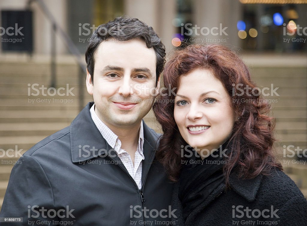 Happy Young Couple royalty-free stock photo