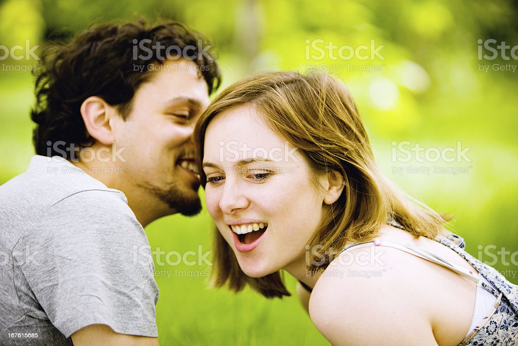Happy Young Couple Portrait royalty-free stock photo