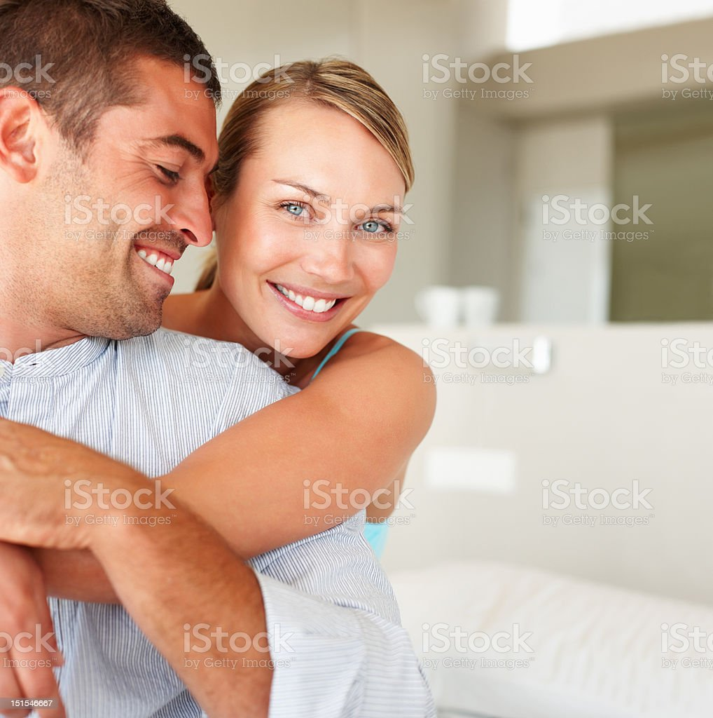 Happy young couple romancing royalty-free stock photo