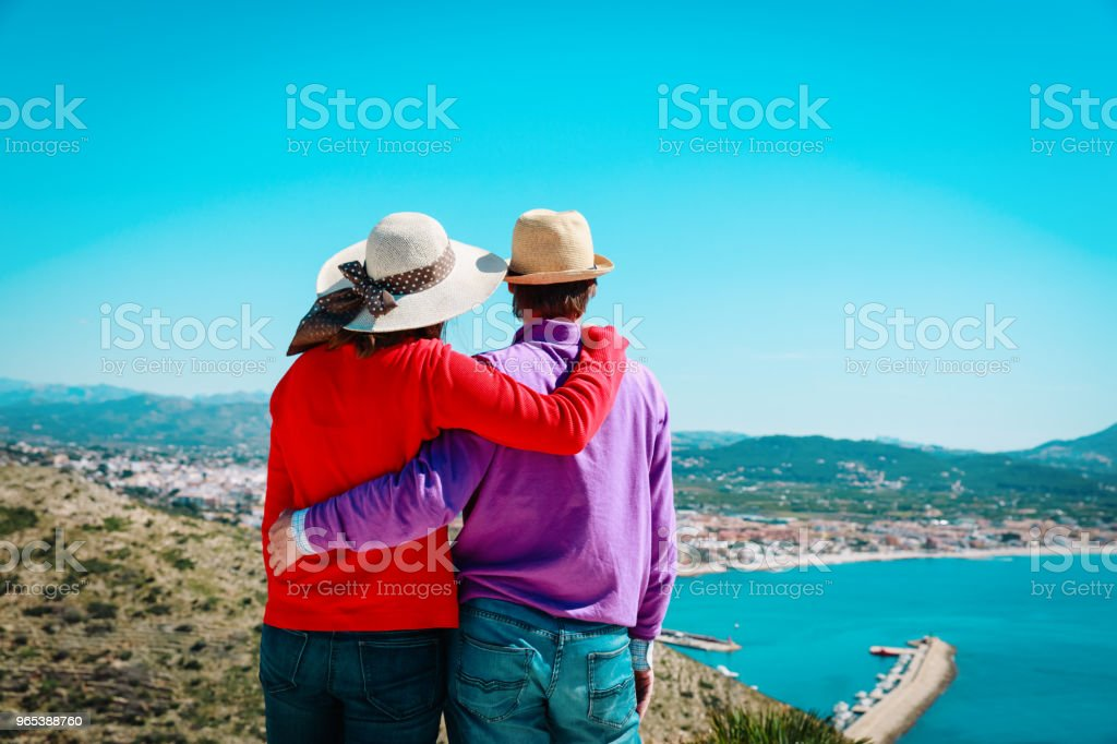 happy young couple travel in Europe zbiór zdjęć royalty-free