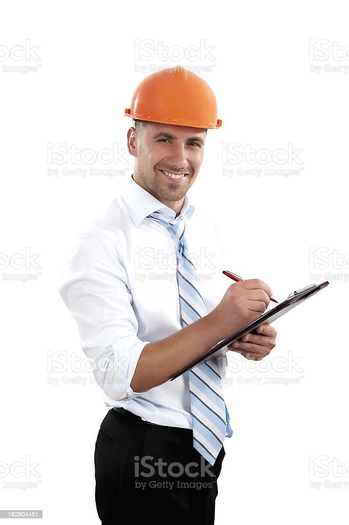 Happy Young Engineer Portrait royalty-free stock photo