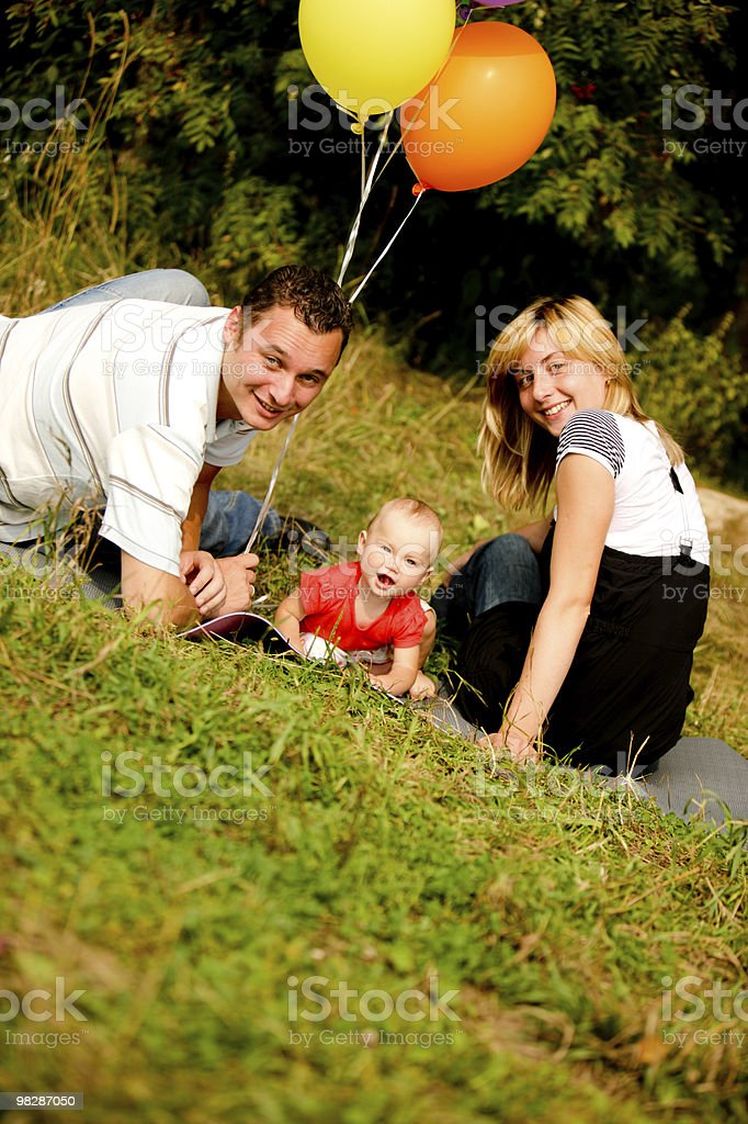 Happy Young Family royalty-free stock photo