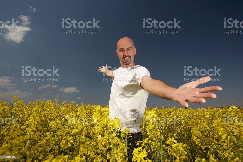 happy young farmer royalty-free stock photo