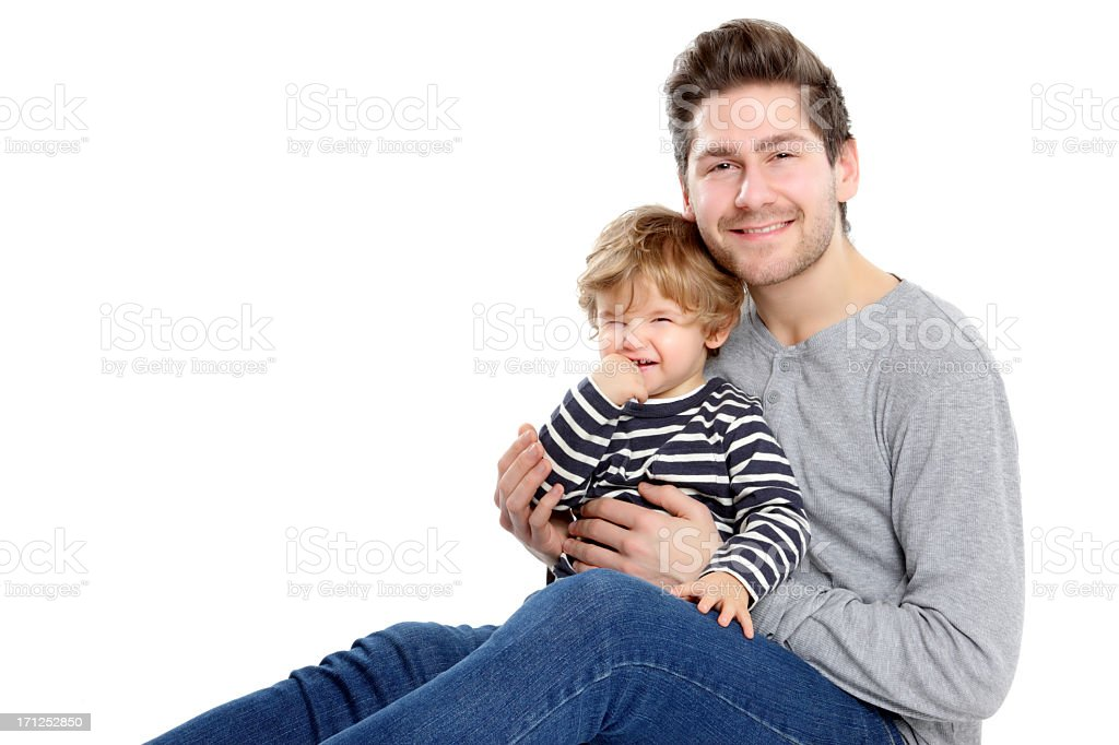 Happy Young Father and Son royalty-free stock photo