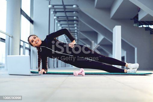 istock Happy young fitness woman 1068290998