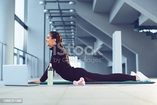 istock Happy young fitness woman 1068291068