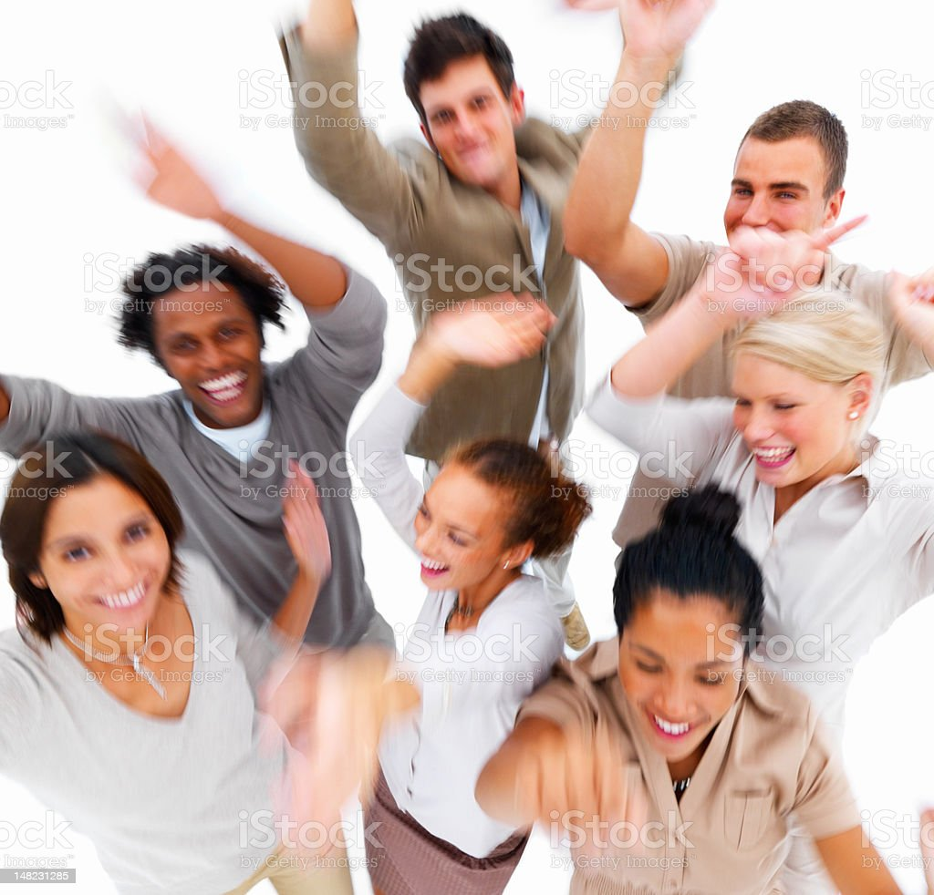 Happy young friends having fun royalty-free stock photo