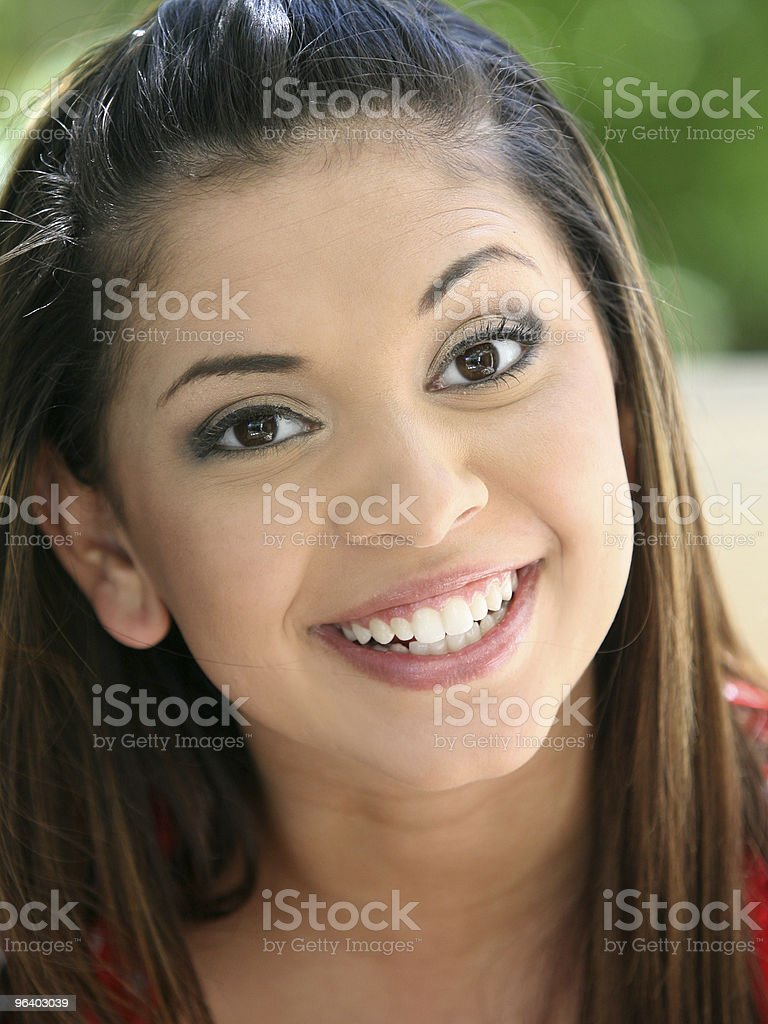 Happy young girl royalty-free stock photo