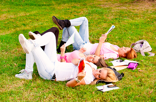 istock happy young high school students or college girls 153217202