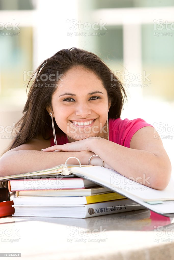 Happy Young Hispanic Student royalty-free stock photo