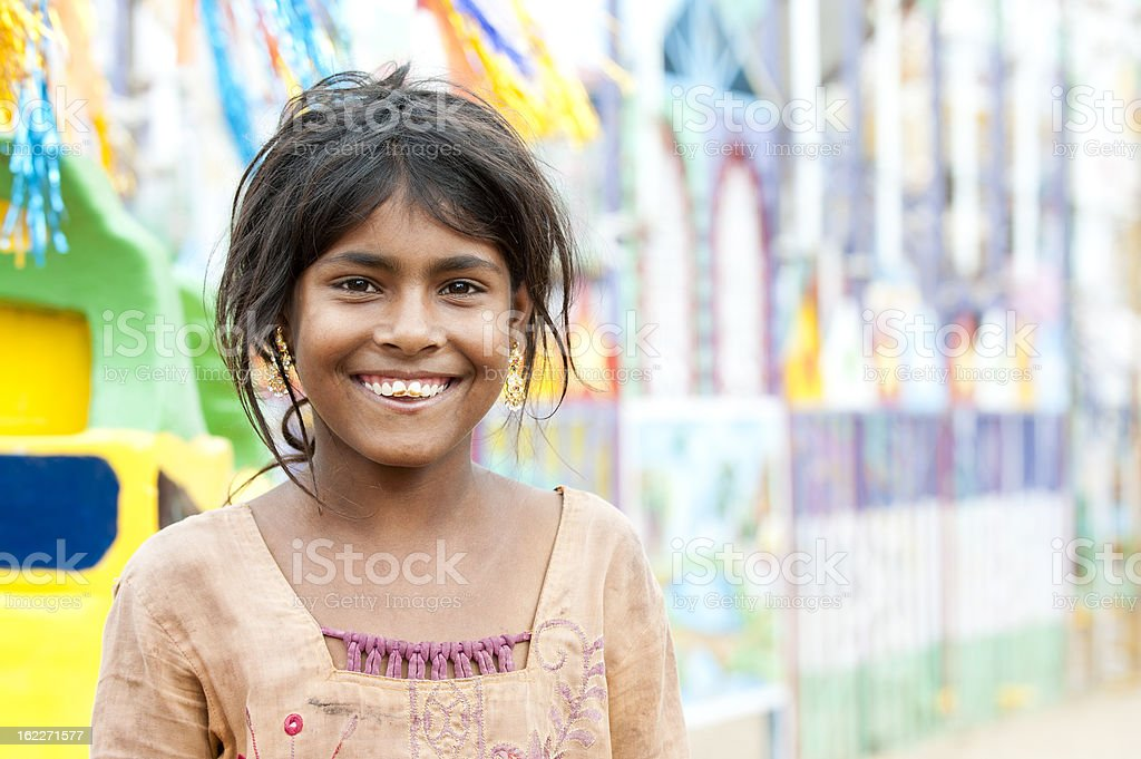 Happy Young Indian Girl stock photo