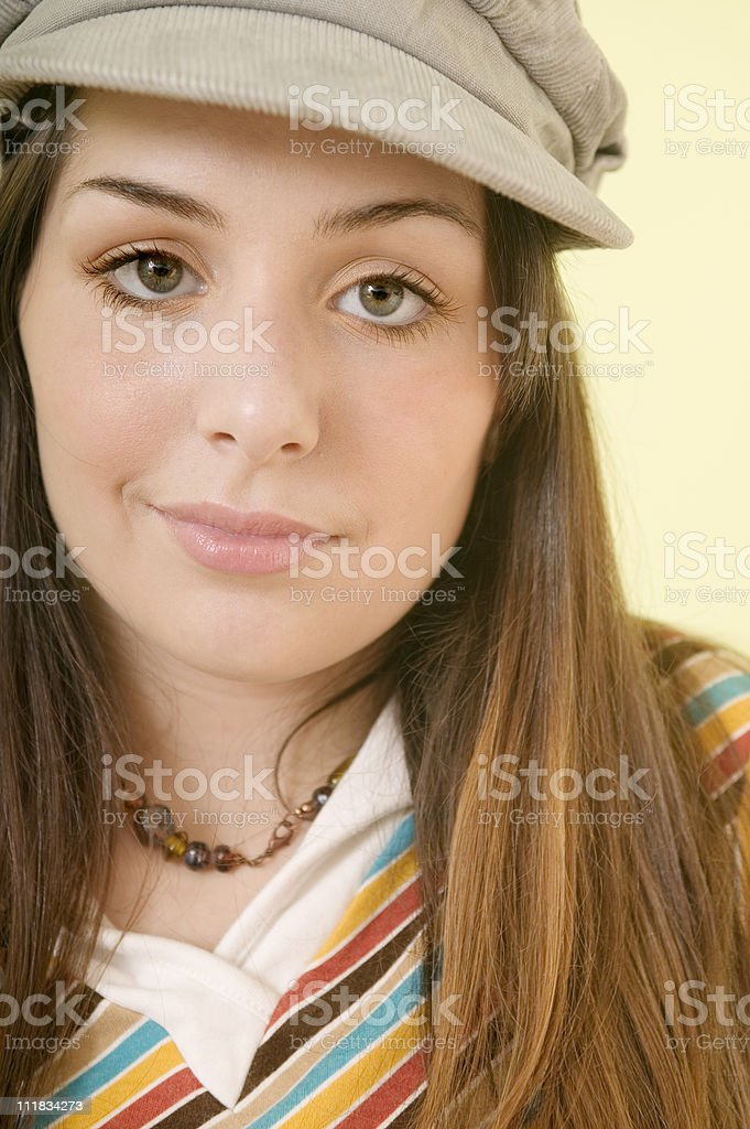 Happy Young Lady stock photo