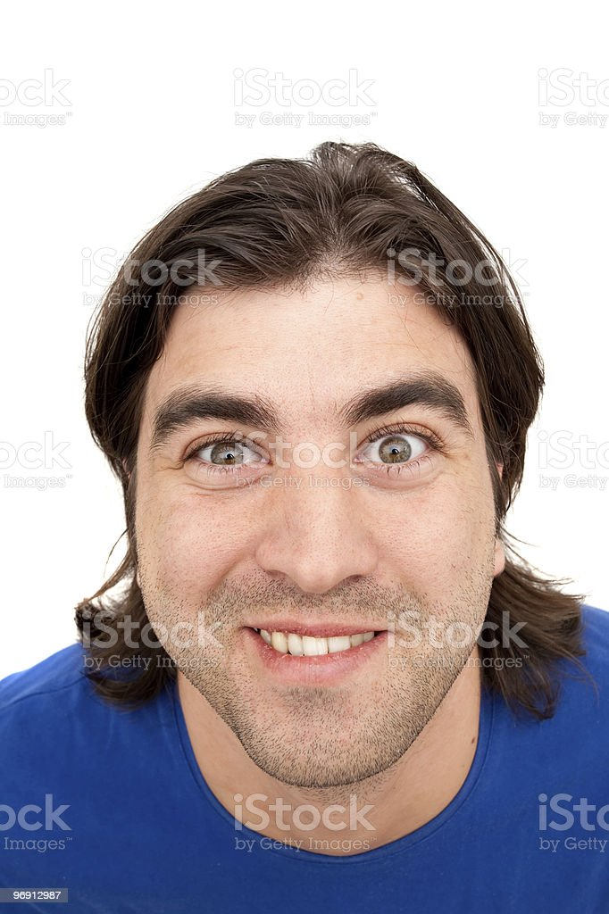 Happy young male smiling royalty-free stock photo