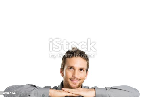 istock Happy Young Man Dreaming 483451479