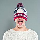 istock Happy Young Man in Winter Cap 175264508