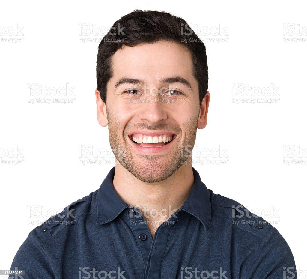 Happy Young Man Portrait stock photo