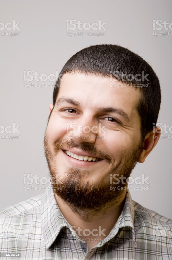 Happy young man portrait royalty-free stock photo