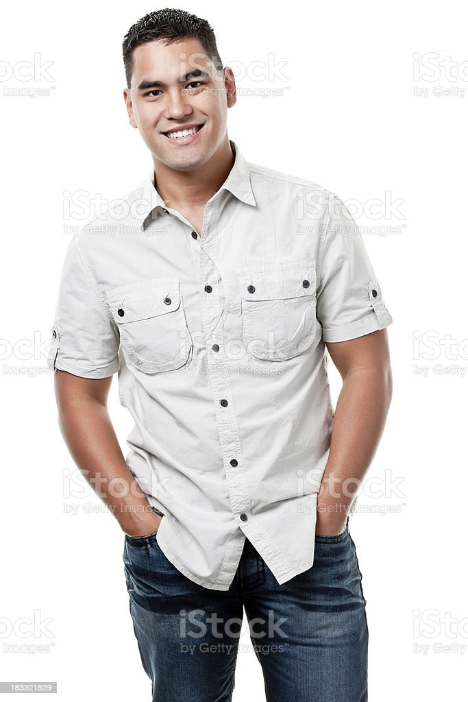 Happy Young Man Smiling Portrait stock photo