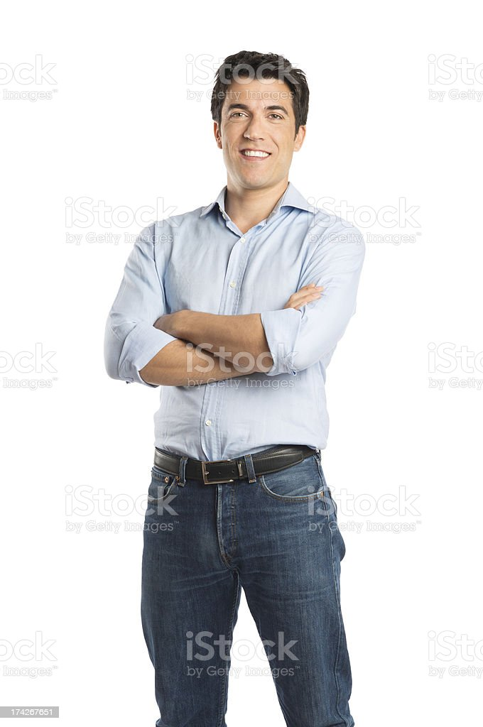 Happy Young Man Standing stock photo