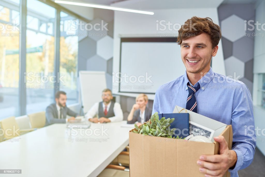 Happy Young Man Starting Career in Business royalty-free stock photo