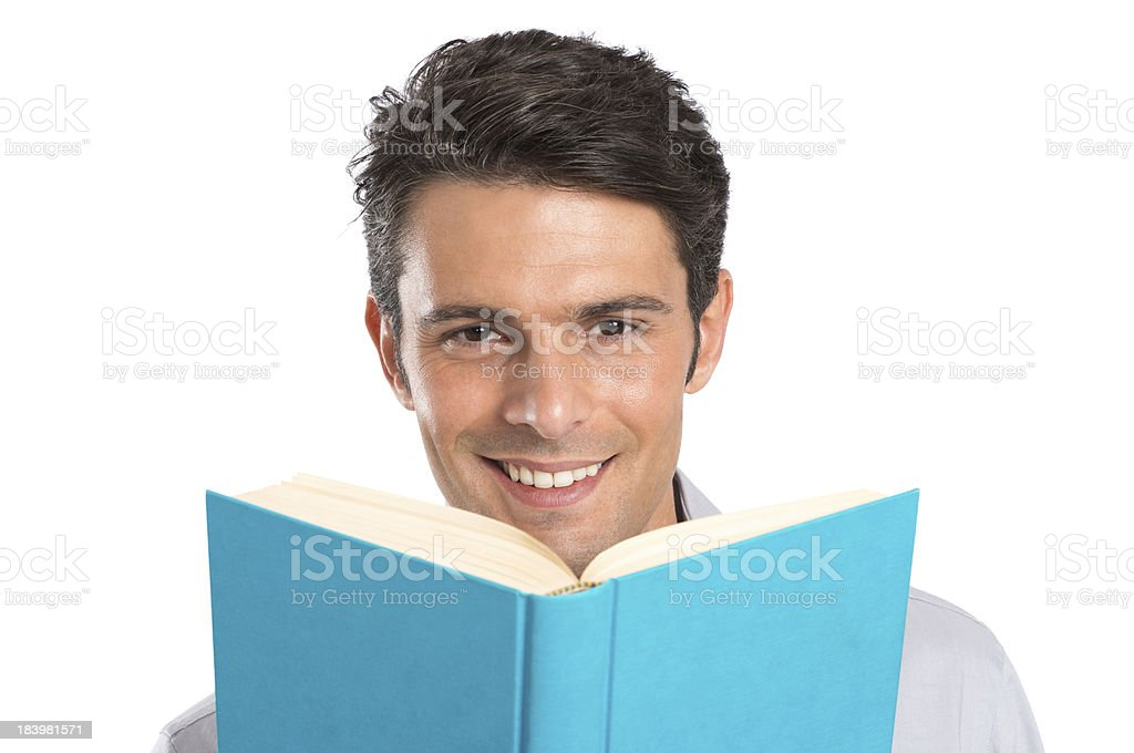 Happy Young Man With A Book royalty-free stock photo