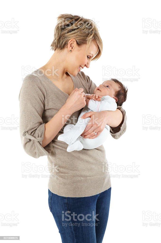Glückliche junge Mutter und baby Mädchen – Foto