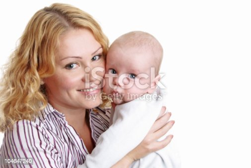 471164880 istock photo Happy young mother with baby 104647240