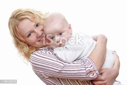 471164880 istock photo Happy young mother with baby 116123273