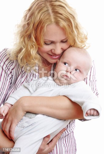 471164880 istock photo Happy young mother with baby 116124058
