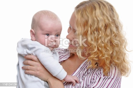 471164880 istock photo Happy young mother with baby 116124126