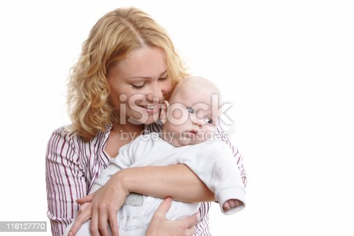 471164880 istock photo Happy young mother with baby 116127770