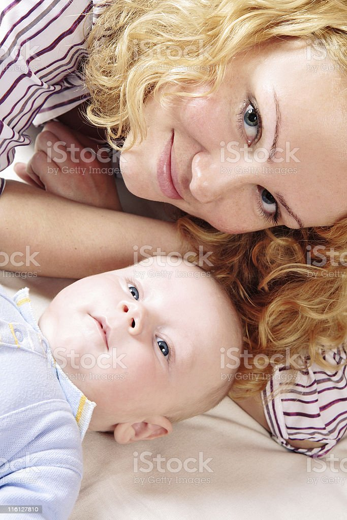 Happy young mother with baby royalty-free stock photo