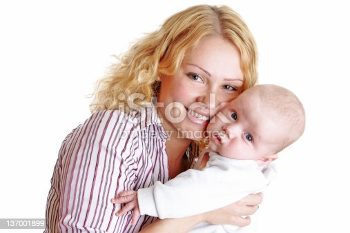 471164880 istock photo Happy young mother with baby 137001899