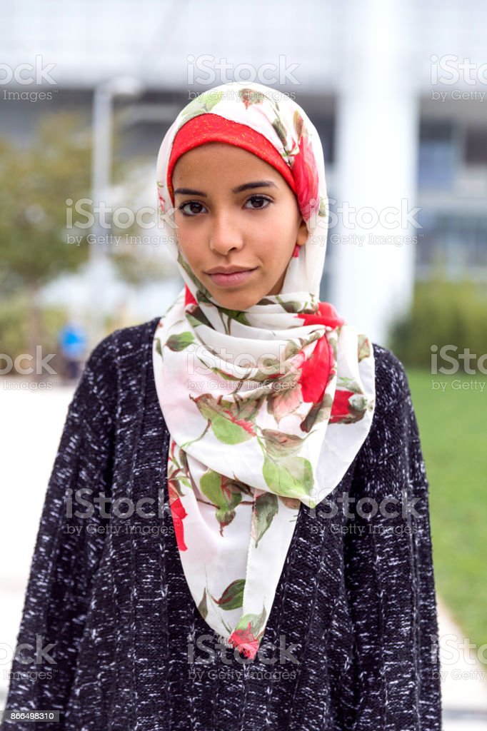Happy young Muslim Women stock photo