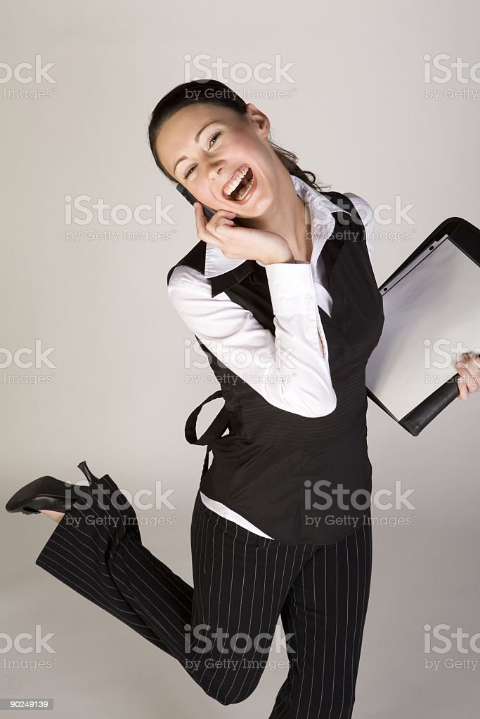 Happy young professional woman royalty-free stock photo