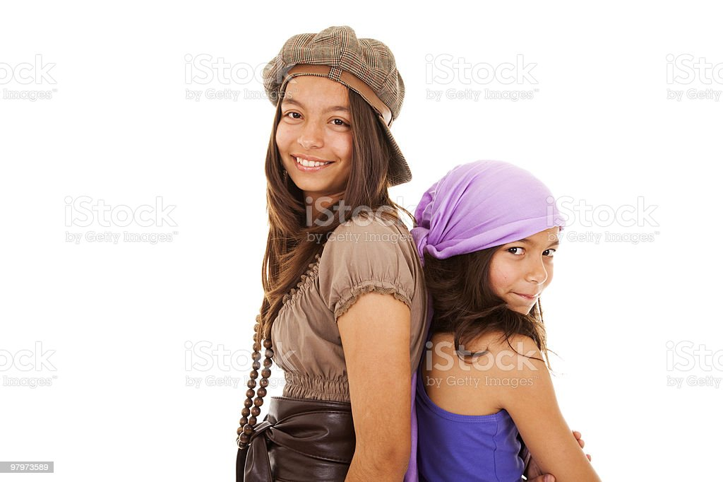 happy young sisters royalty-free stock photo