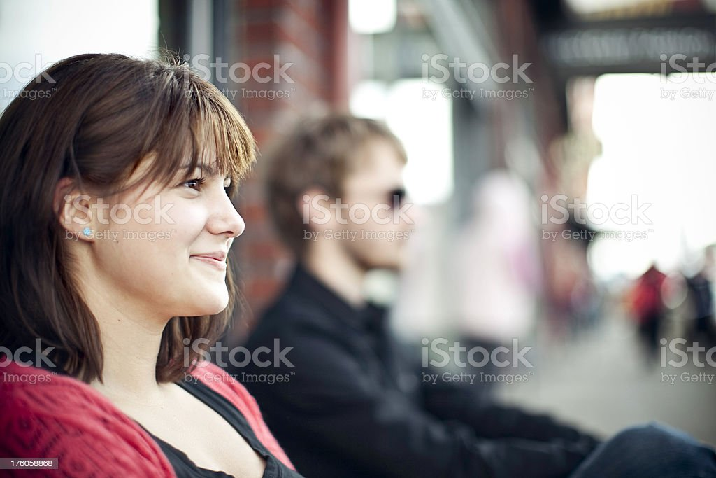 Happy Young Urban Couple royalty-free stock photo