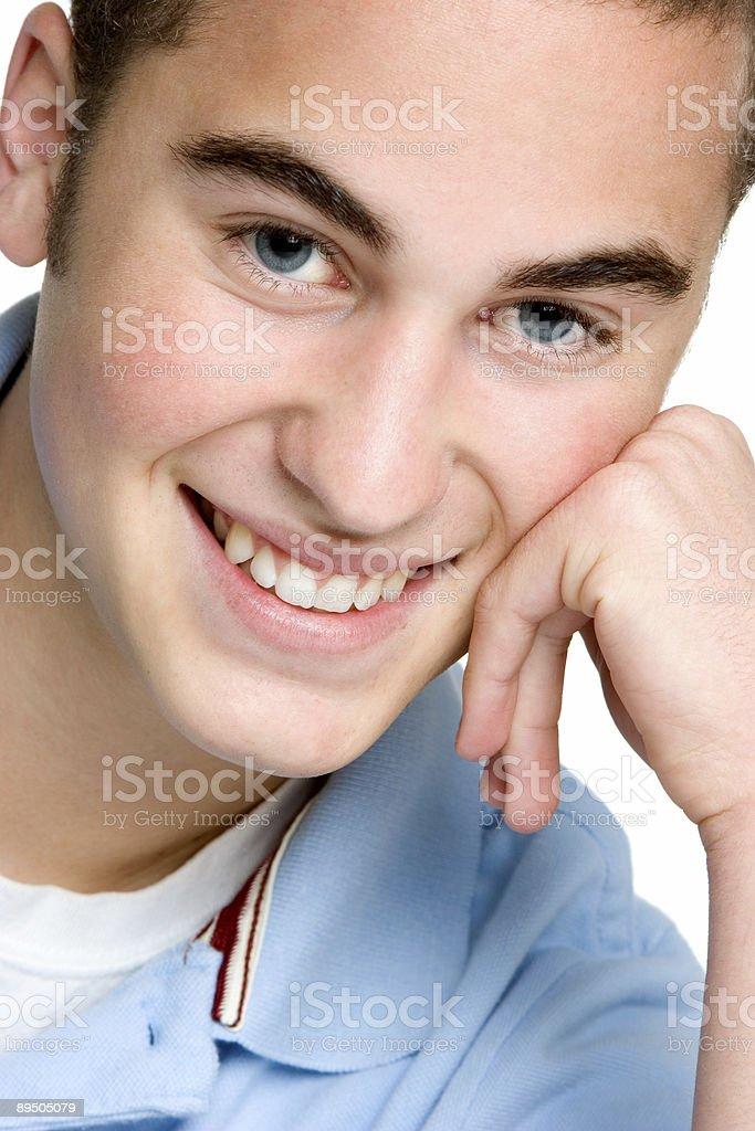 Felice giovane uomo bianco foto stock royalty-free