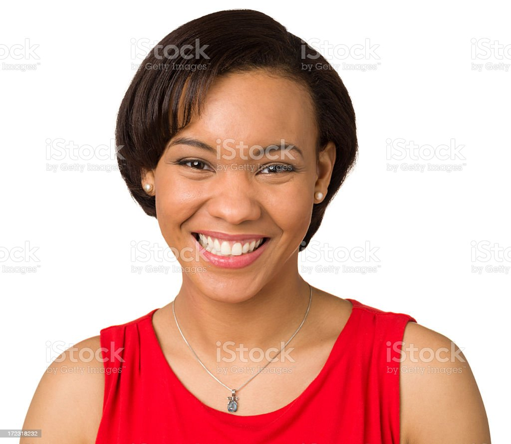 Happy Young Woman Closeup Portrait royalty-free stock photo