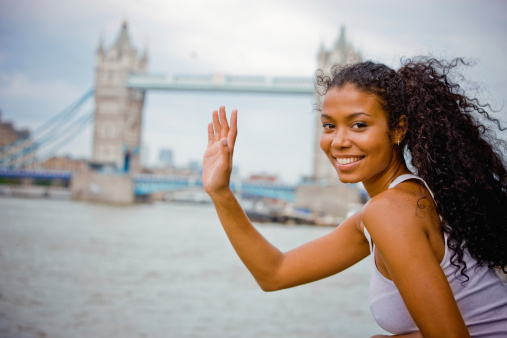 Happy Young Woman in London