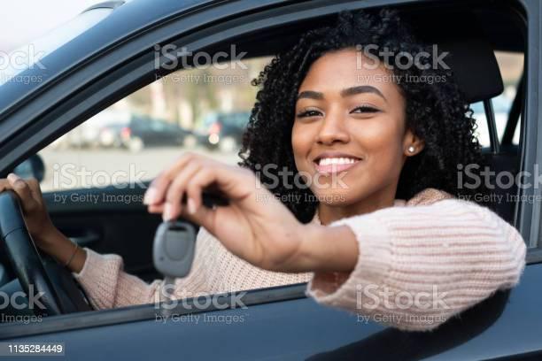 Happy young woman learning to drive car picture id1135284449?b=1&k=6&m=1135284449&s=612x612&h=jmatxzpn93k ot0bfkczuvokl2rjiz3or3 xazacdtc=